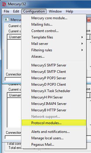Mercury Protocoll modules