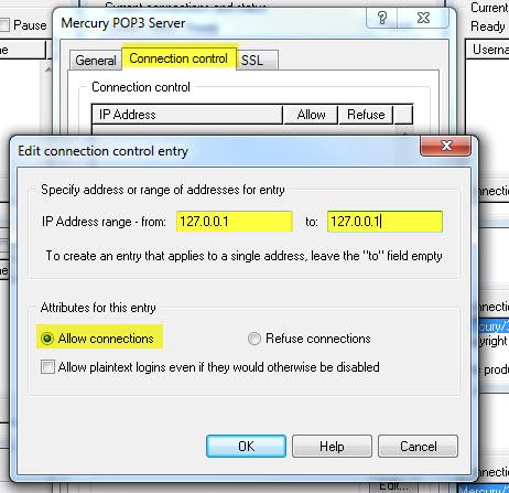 11 in Mercury einrichten (XAMPP Mailserver)