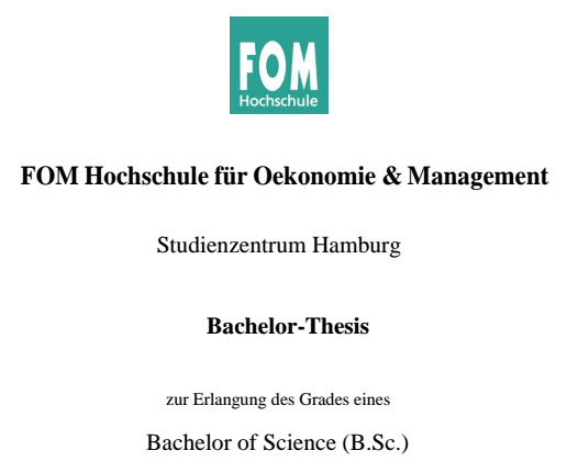 bachelorarbeit thesis